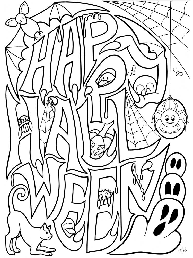 Free Halloween Coloring Pages For Adults. Printable To Download Halloween  Coloring Pages.