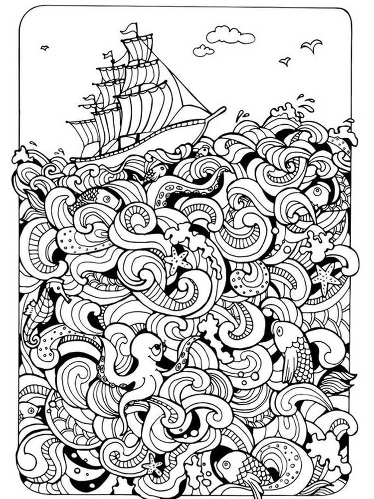 Free Hard Coloring Pages For Adults. Printable To Download Hard Coloring  Pages.