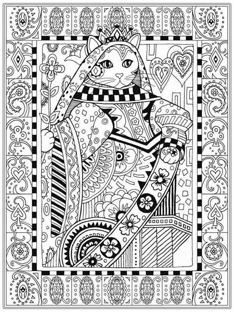 Free Printable Intricate Christmas Coloring Pages