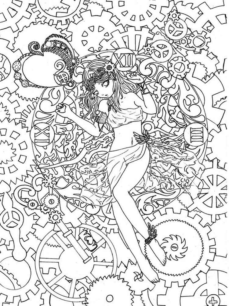 Intricate Coloring Pages For Adults Free Printable