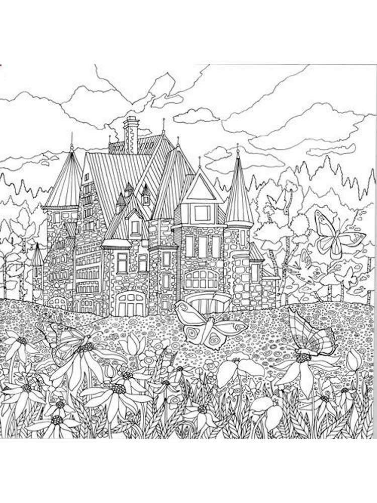 Free Landscapes Coloring Pages For Adults Printable To Download Landscapes Coloring Pages
