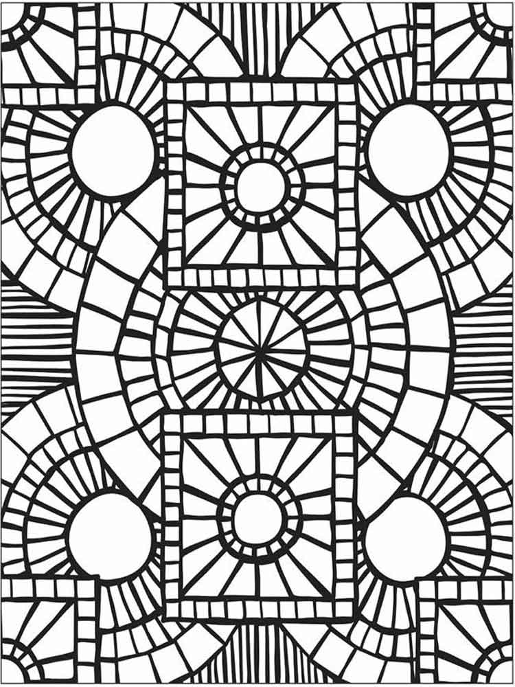Mosaic coloring pages for adults. Free Printable Mosaic ...