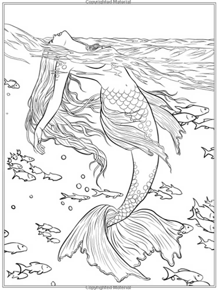 Free Mermaid coloring pages for Adults. Printable to ...