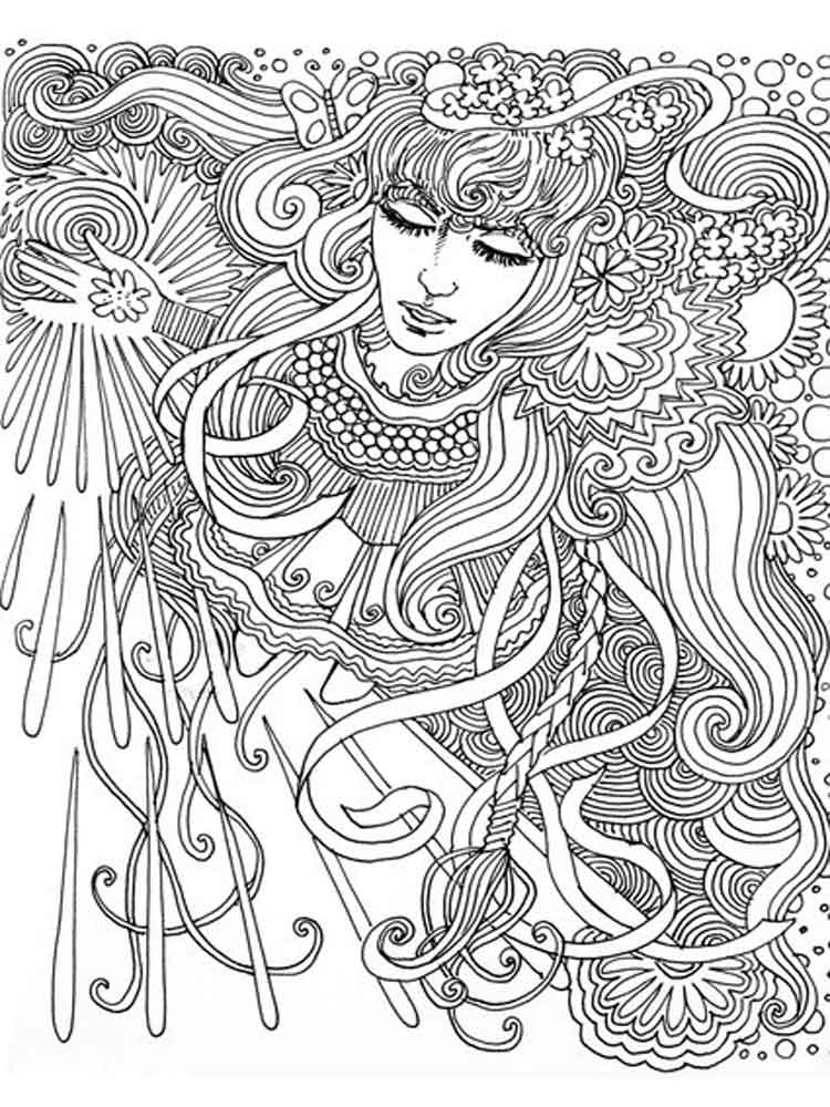 psychedelic coloring pages adult 11