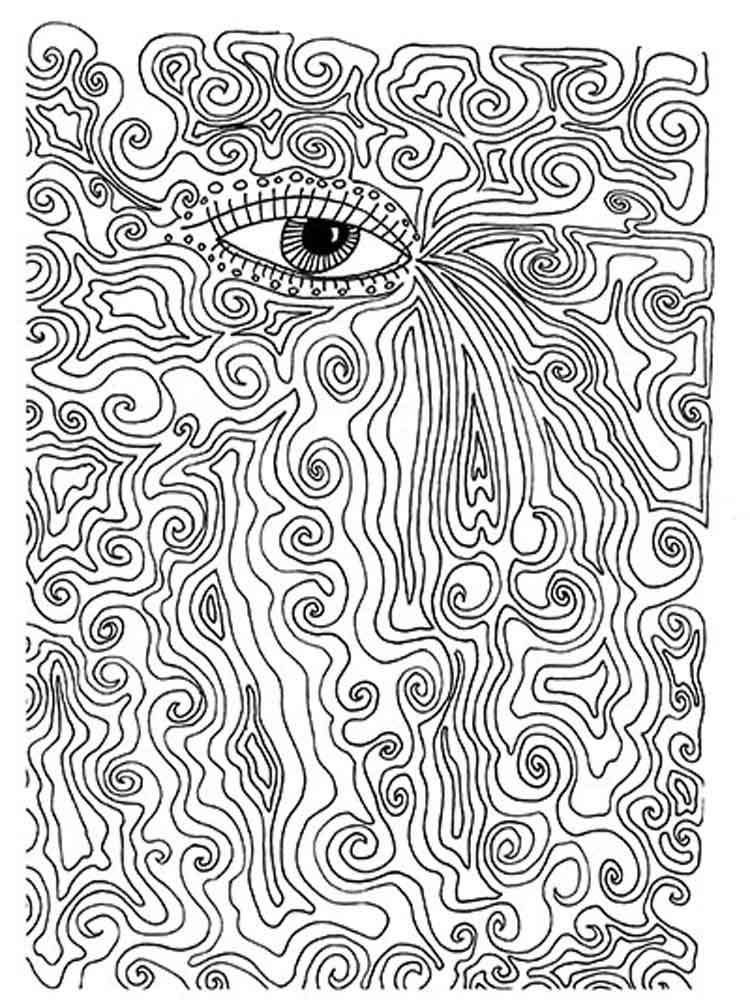 Coloring Pages Trippyok Easy To Draw Hippy Images Print ... | 1000x750