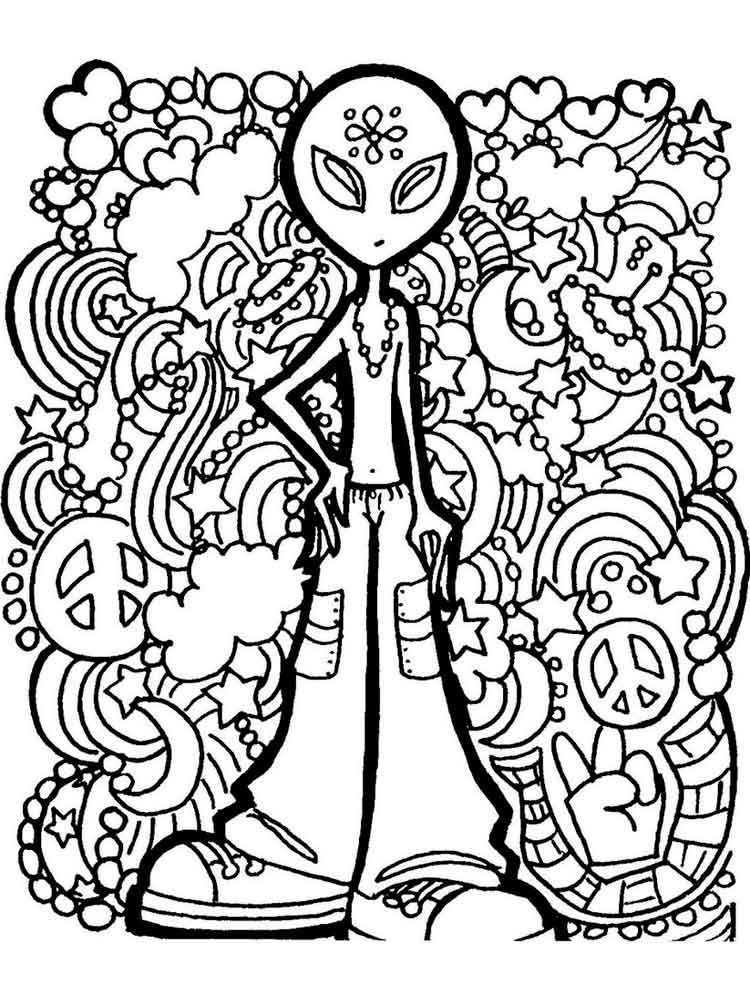 psychedelic coloring pages adult 3 - Psychedelic Coloring Book