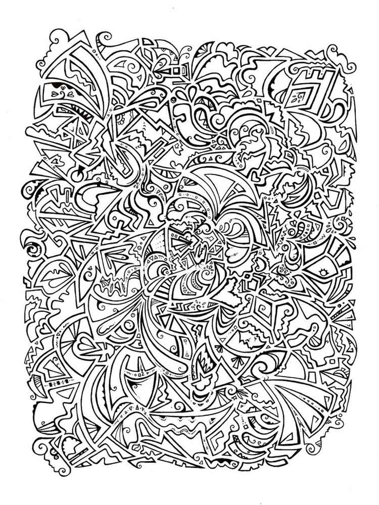 Psychedelic Coloring Pages For Adults. Free Printable Psychedelic Coloring  Pages.