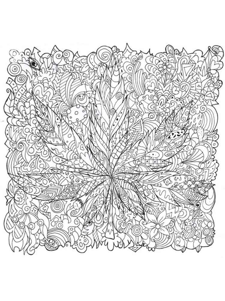 Psychedelic Coloring Pages For Adults Free Printable