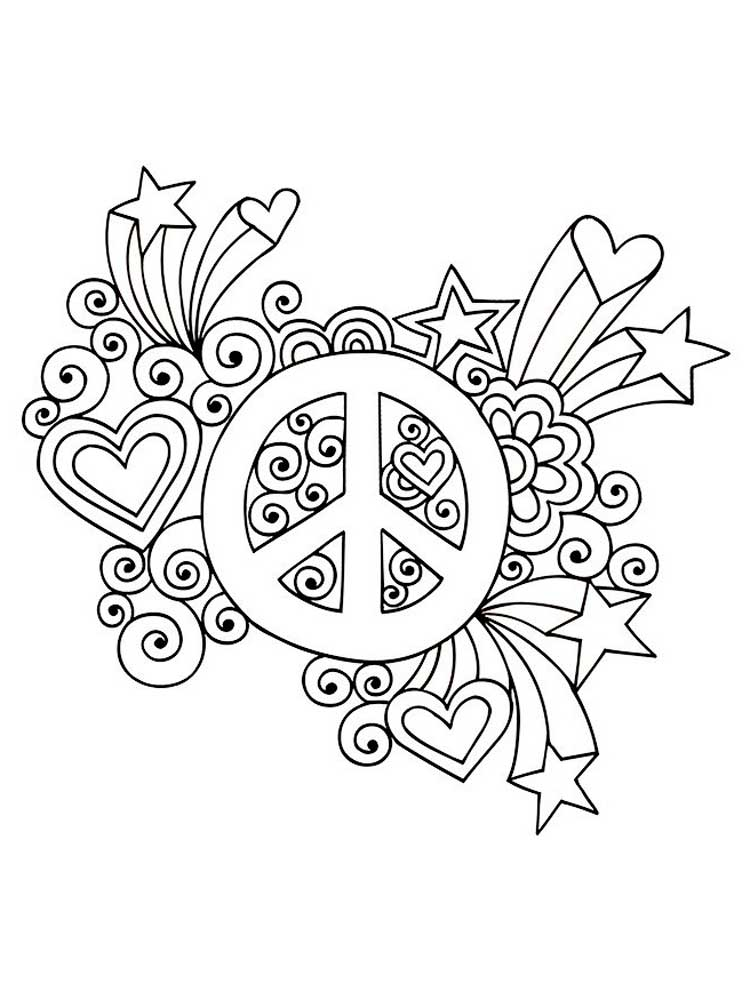 Free Peace coloring pages for Adults. Printable to ...