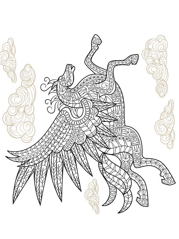 Free Pegasus Coloring Pages For Adults Printable To Download Pegasus Coloring Pages