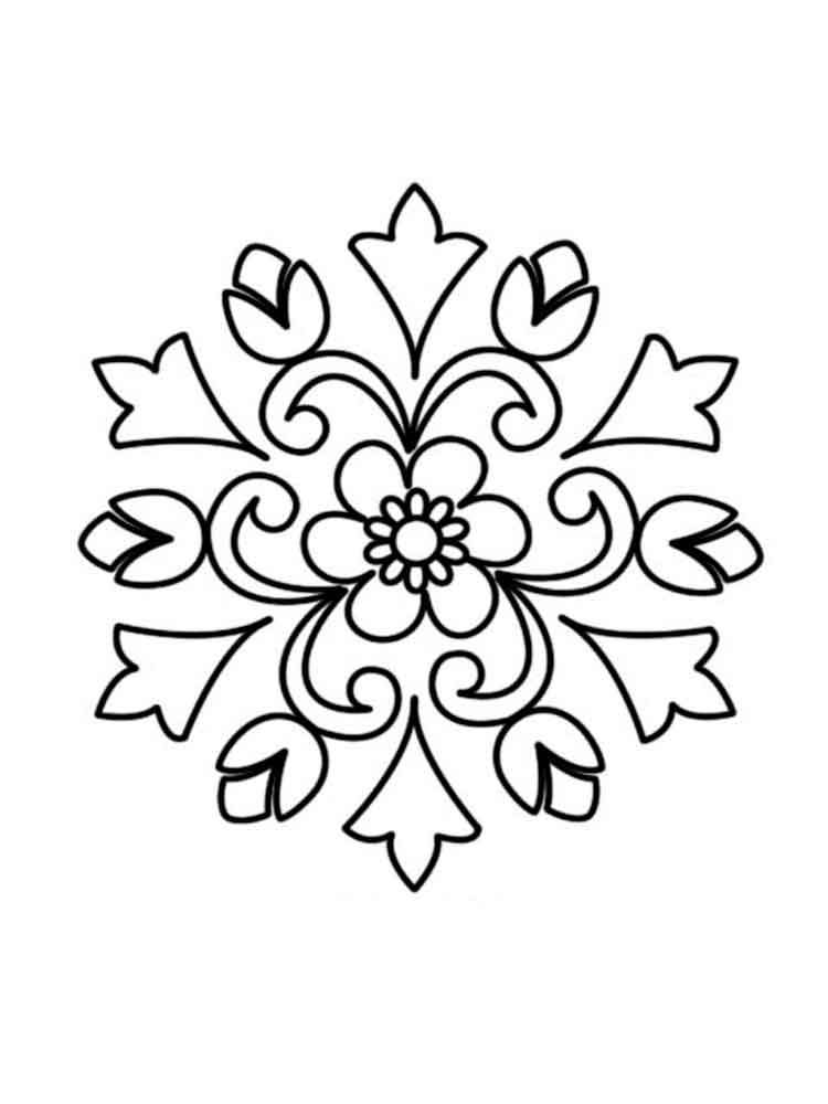 Rangoli coloring pages for adults free printable rangoli for Rangoli coloring pages