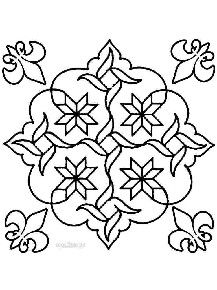 Rangoli Coloring Pages For Adults : Rangoli coloring pages for adults free printable