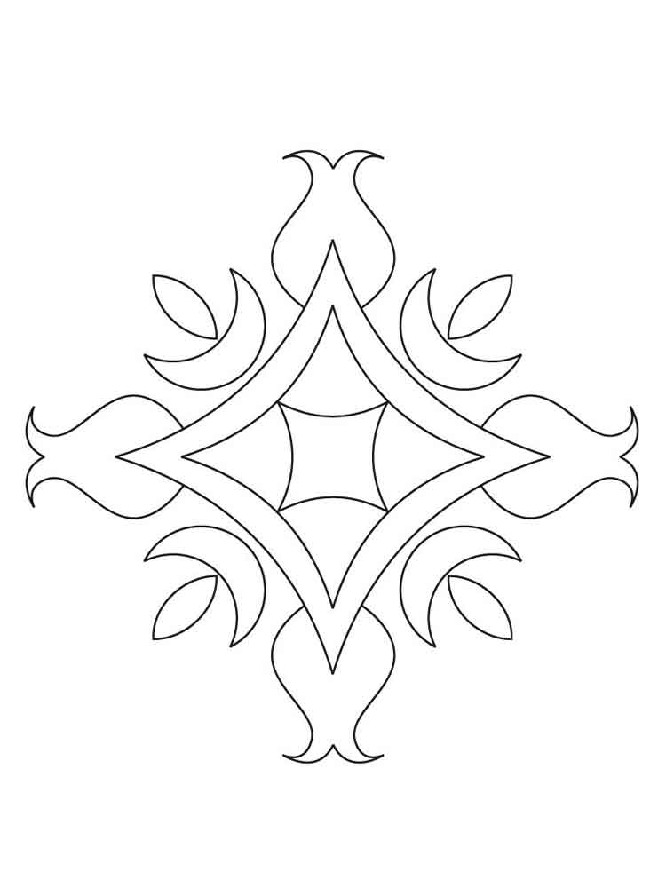 Rangoli coloring pages for adults
