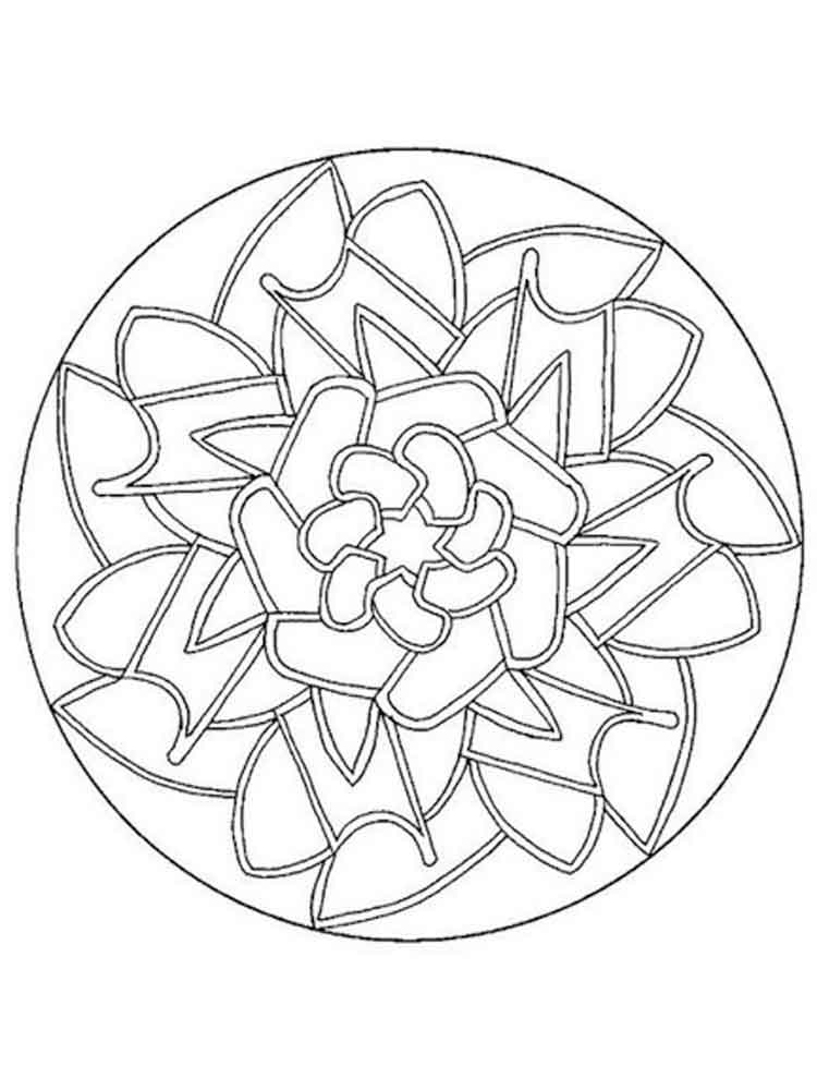 Simple mandala coloring pages for adults Free Printable Simple