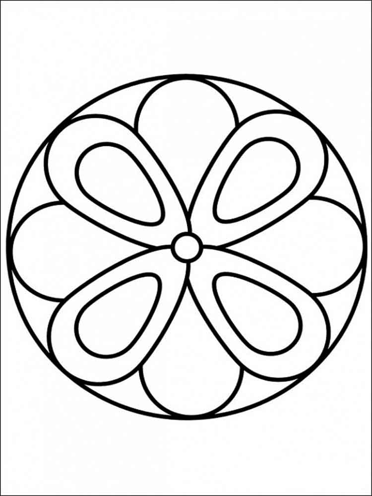 easy printable mandala coloring pages - simple mandala coloring pages for adults free printable