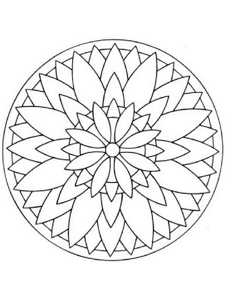 simple mandala coloring pages adult 13 - Simple Mandala Coloring Pages