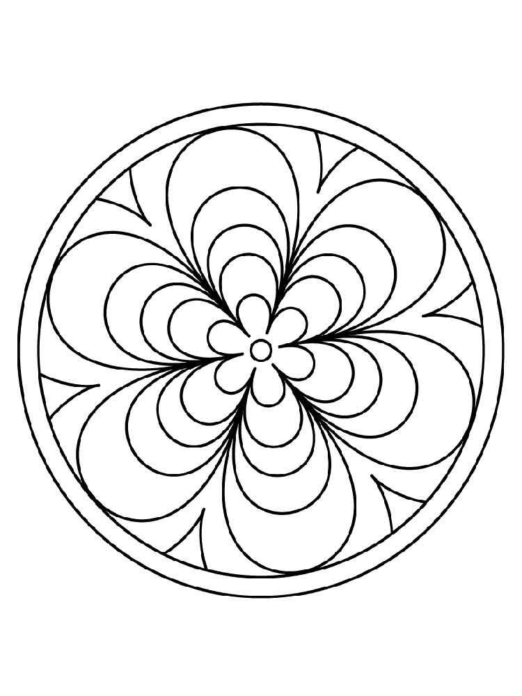 Simple mandala coloring pages for adults. Free Printable ...