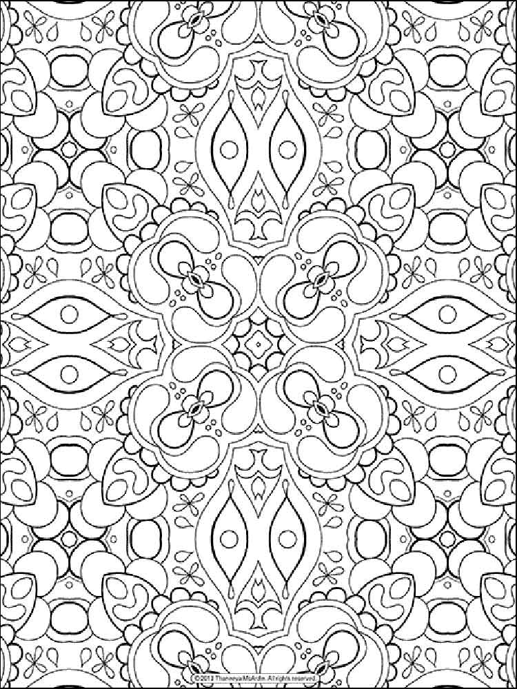 Stress coloring pages for adults