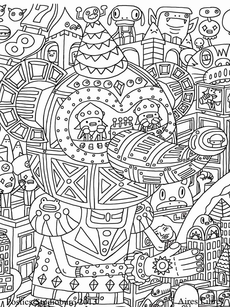 Stress Coloring Pages For Adults Free Printable Stress