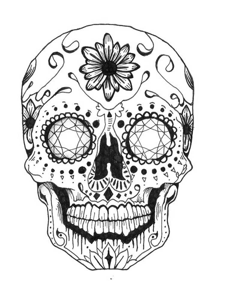 Free Skull Coloring Pages For Adults. Printable To Download Skull Coloring  Pages.