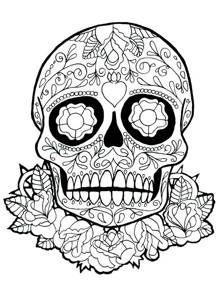 - Free Skull Coloring Pages For Adults. Printable To Download Skull Coloring  Pages.