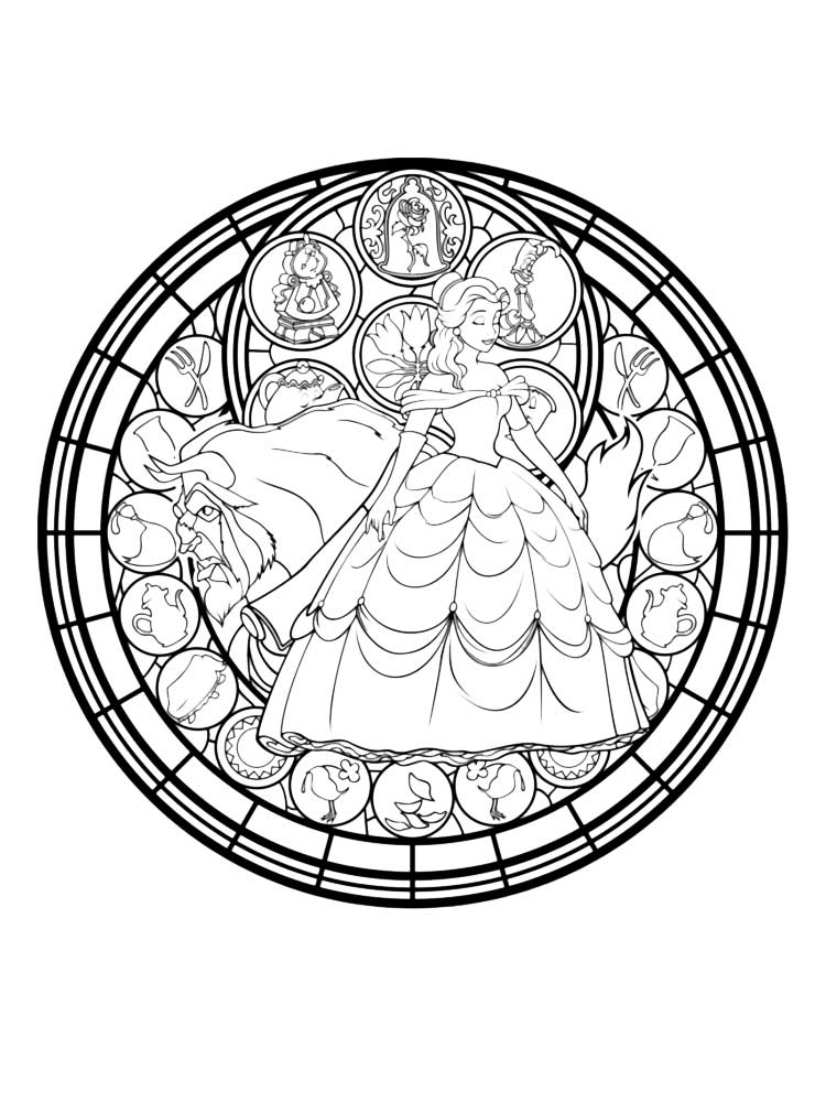 Free Stained Glass Coloring Pages For Adults Printable To
