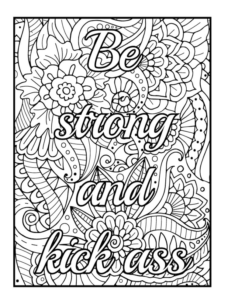 Free Swear Word coloring pages for Adults. Printable to ...