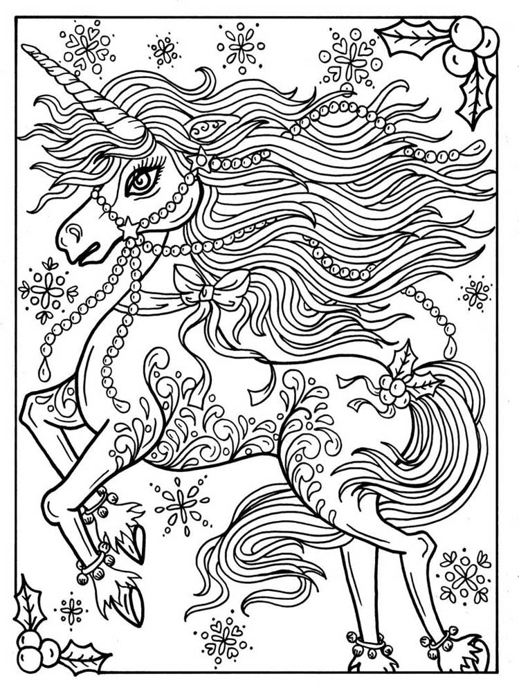 Free Unicorn Coloring Pages For Adults. Printable To Download Unicorn  Coloring Pages.