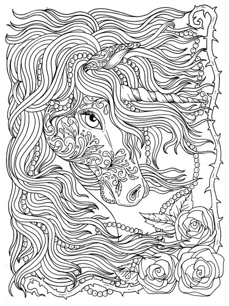 Free Unicorn coloring pages for Adults. Printable to ...