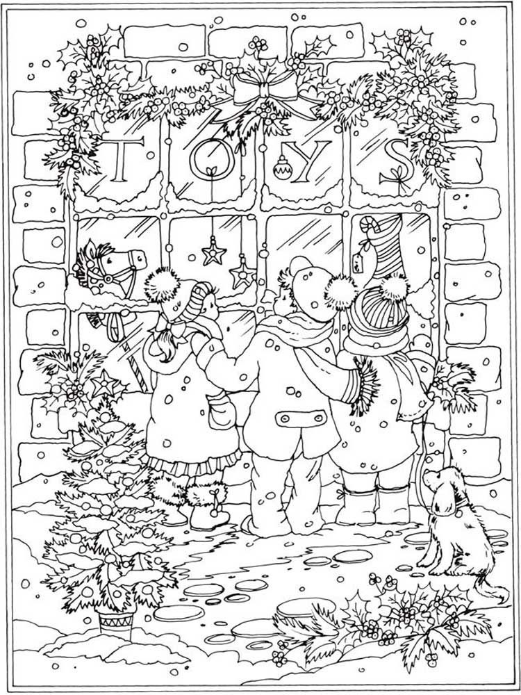 Free Winter Coloring Pages For Adults. Printable To Download Winter  Coloring Pages.