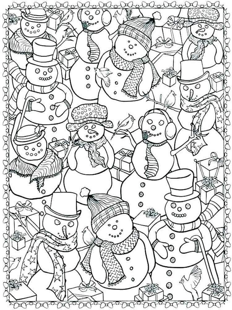 Free Winter coloring pages for Adults. Printable to ...