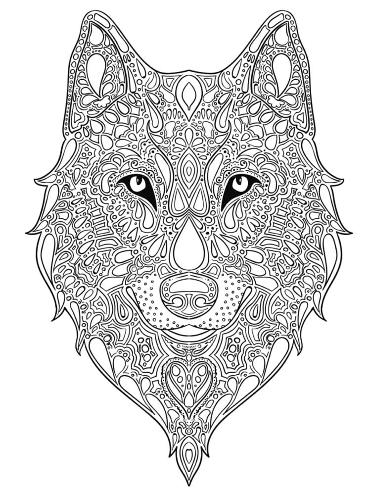 Free Wolf Coloring Pages For Adults. Printable To Download Wolf Coloring  Pages.