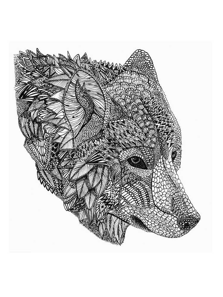 Free Wolf coloring pages for Adults. Printable to Download ...