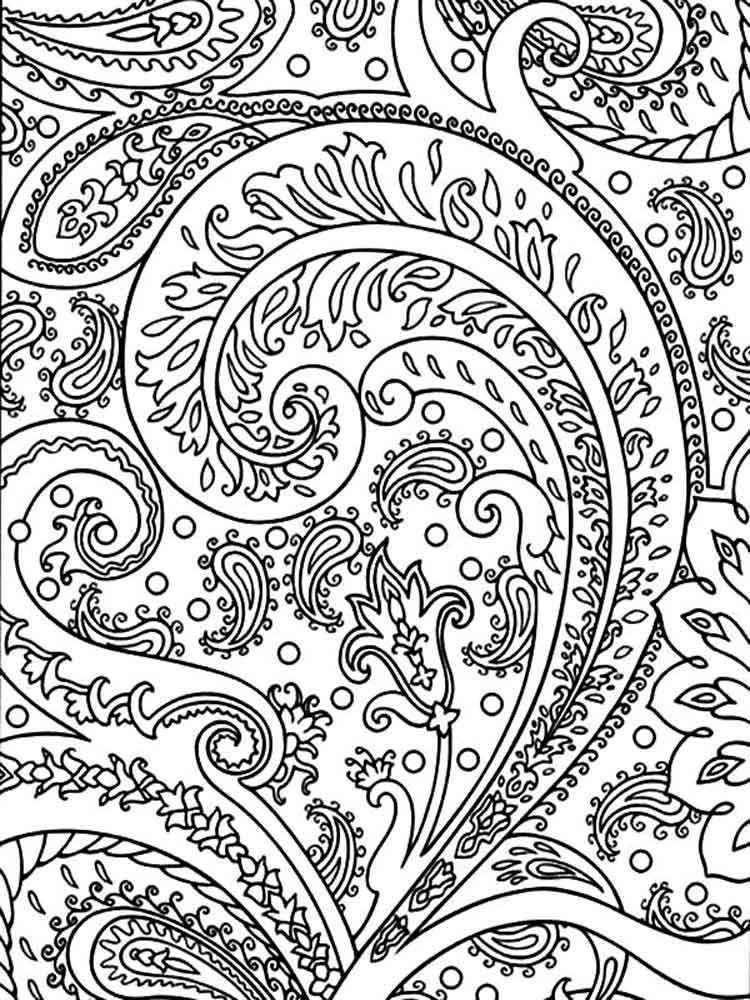 Free abstract coloring pages for adults printable to for Adult abstract coloring pages
