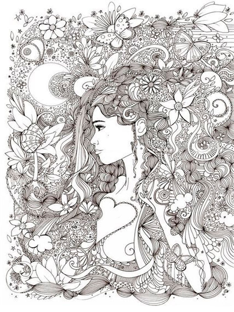 AntiStress coloring pages for adults Free Printable Anti