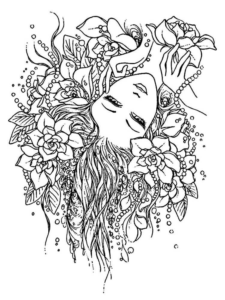 Adult Pages For Anxiety Coloring Pages