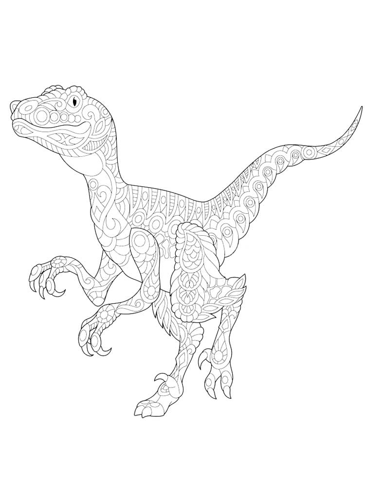 Zentagle Dinosaur Coloring Pages For Adults