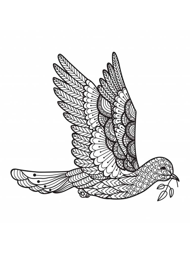 Zentagle Dove Coloring Pages For Adults