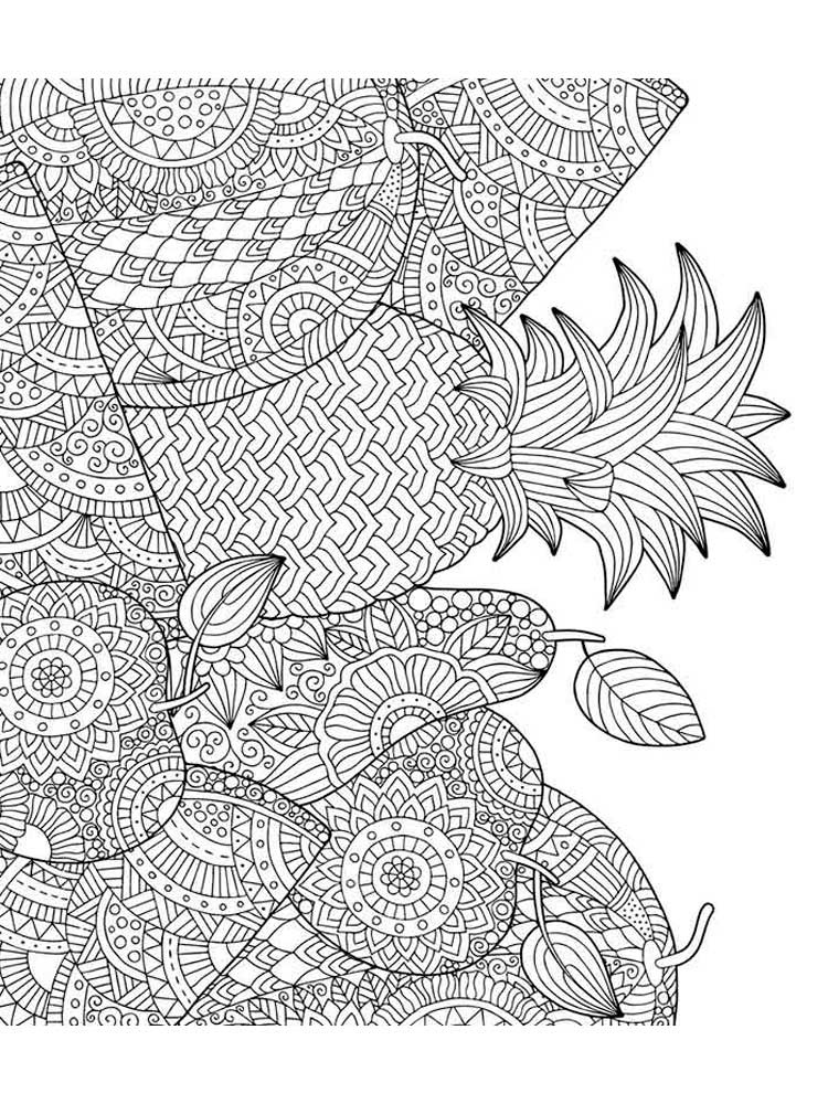 Zentangle Fruit coloring pages