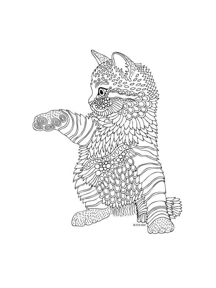 Free Kitten Coloring Pages For Adults Printable To Download Kitten Coloring Pages