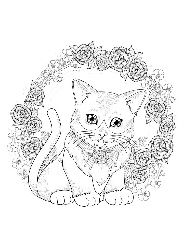 Free Kitten coloring pages for Adults. Printable to ...