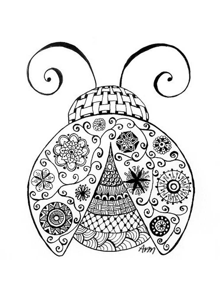 Free Ladybug coloring pages for Adults. Printable to ...