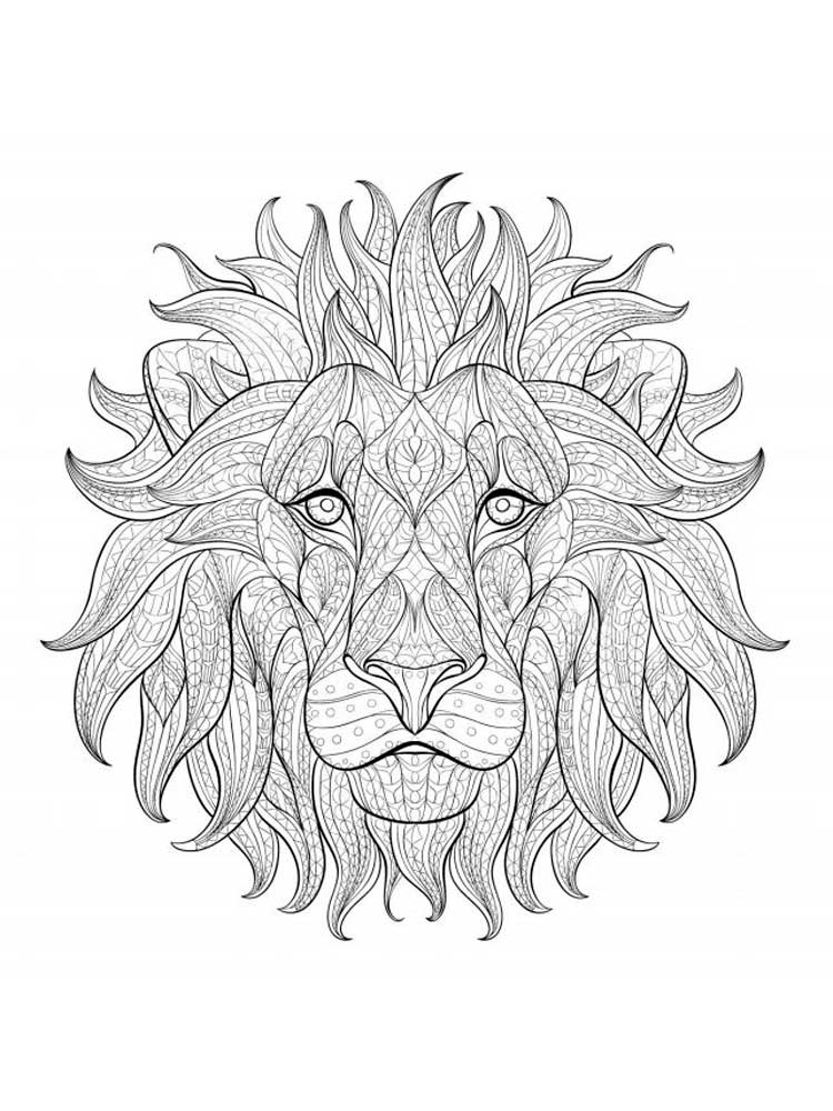 Free Lion coloring pages for Adults. Printable to Download ...