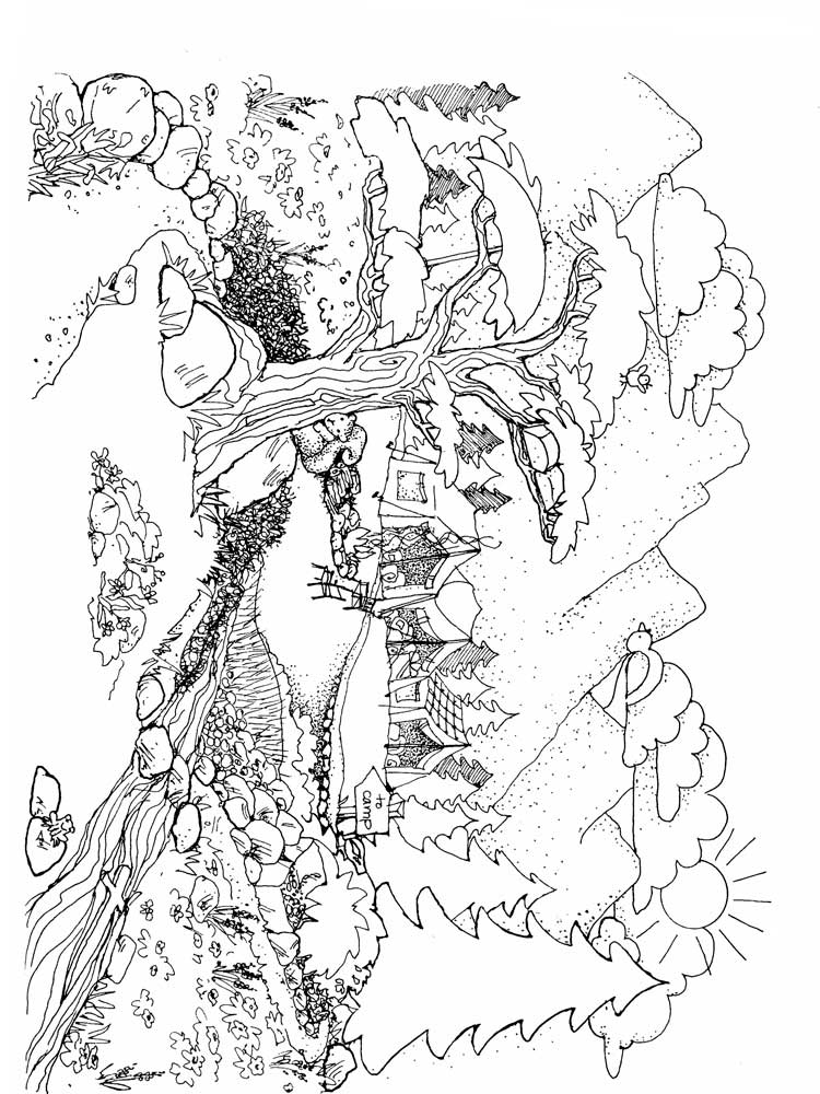 Free Nature coloring pages for Adults. Printable to ...