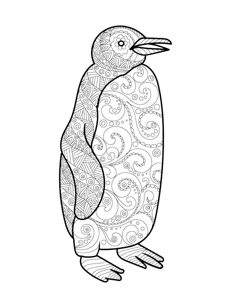 Free Penguin coloring pages for Adults. Printable to Download Penguin  coloring pages.