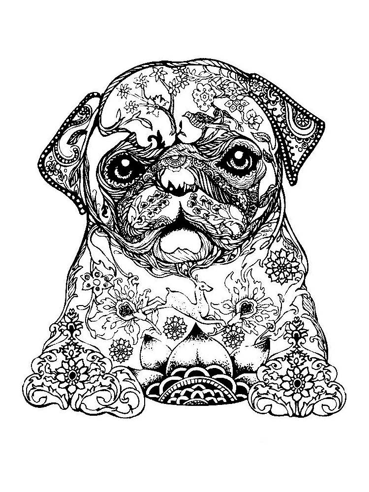 Free Puppy Coloring Pages For Adults. Printable To Download Puppy Coloring  Pages.