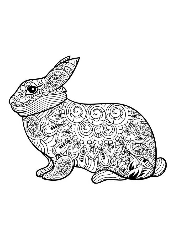 Free Rabbit Coloring Pages For Adults. Printable To Download Rabbit  Coloring Pages.