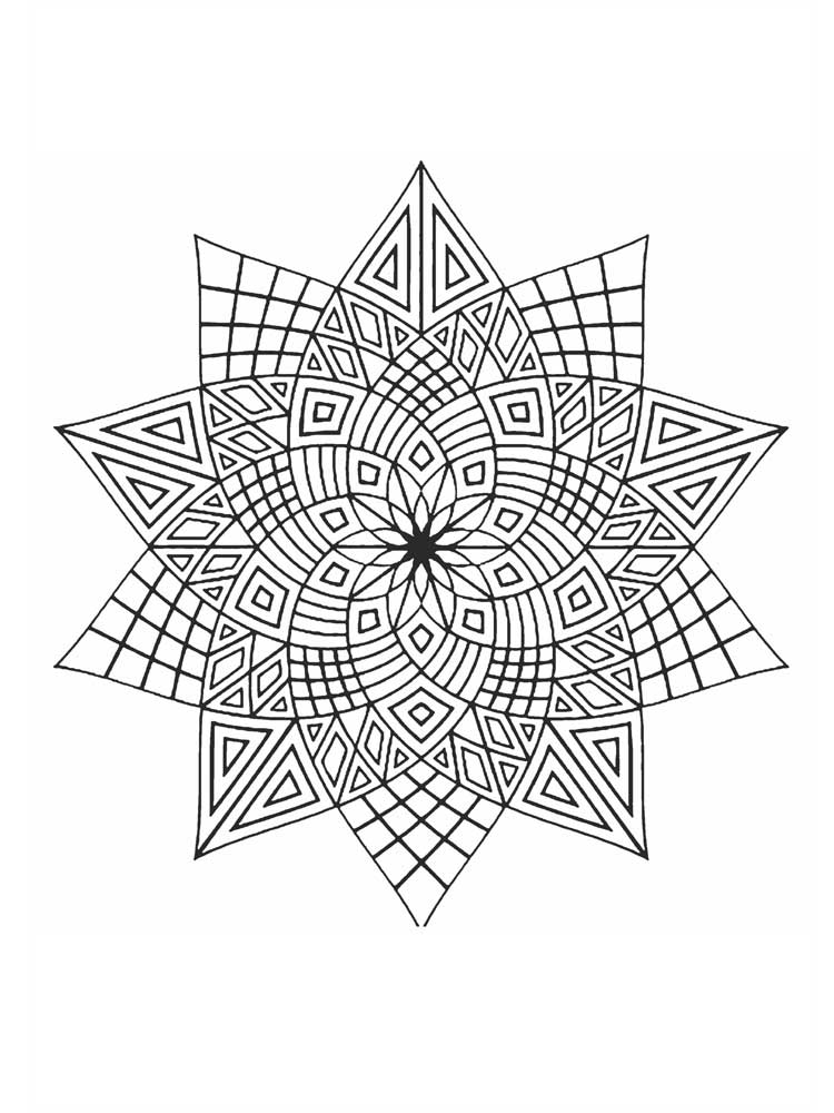 Free Stars coloring pages for Adults. Printable to ...