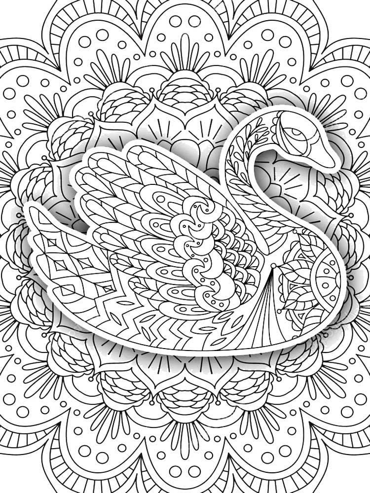 Free Swan coloring pages for Adults. Printable to Download ...