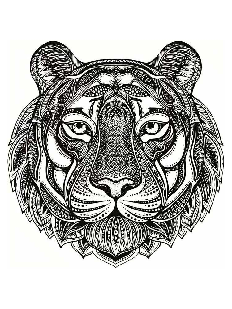 Free Tiger coloring pages for Adults. Printable to ...